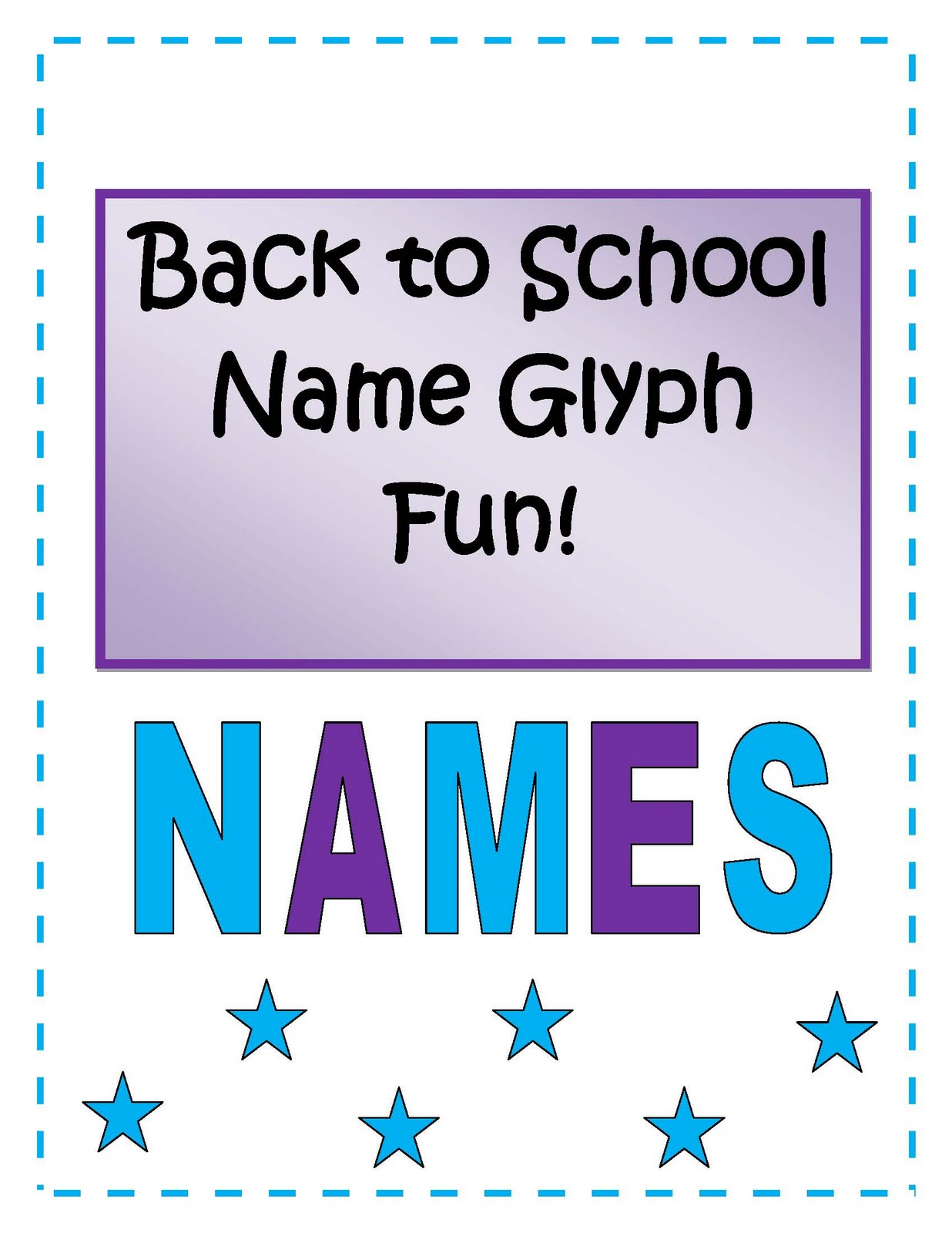 Elementary Back to School Activities