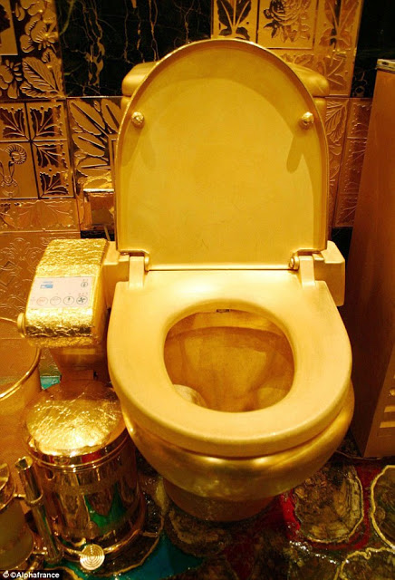 Photos Kanye And Kim Splash Nearly 1million On Gold Plated Toilets For Thei