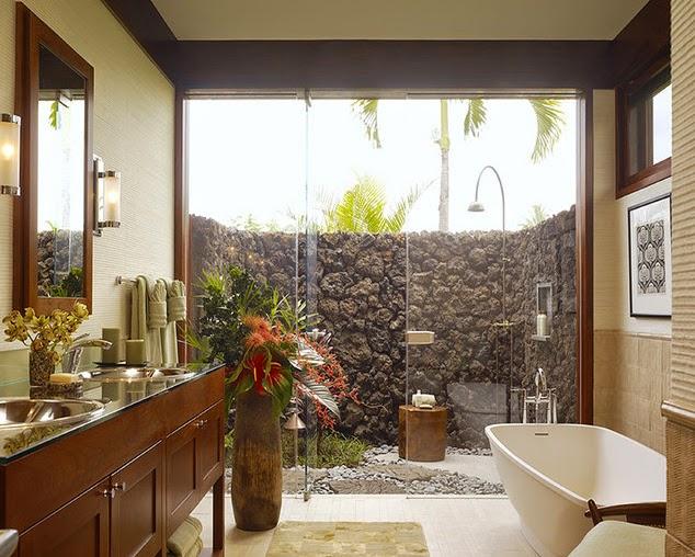 Banheiros lavabos com jardins de inverno e verticais for Bath remodel hawaii