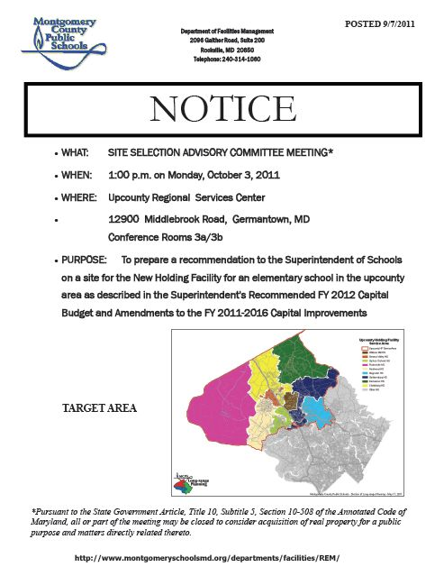 parents coalition of montgomery county maryland notice this