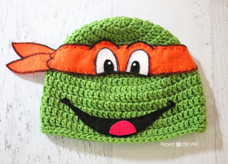 Crochet Ninja Turtle : Repeat Crafter Me: Crochet Ninja Turtle Hat Pattern