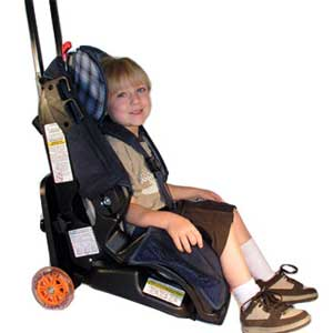 An Early Adopter Of The Wheeled Car Seat Its Like Rollable Luggage Except Is Your Which Attaches To A Roller Frame So