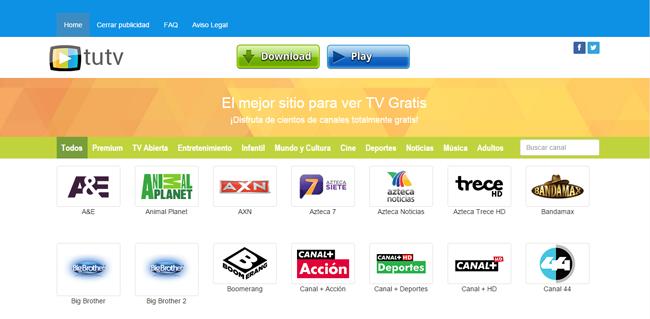 Tutvgratis.tv, una web para ver tv de paga gratis online