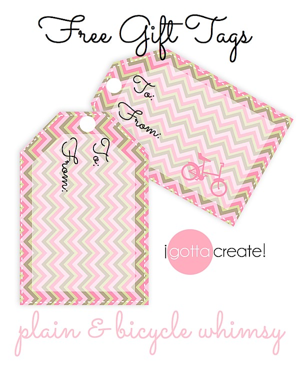 24 FREE printable gift tags: Beautiful & Whimsical! | download at I Gotta Create!