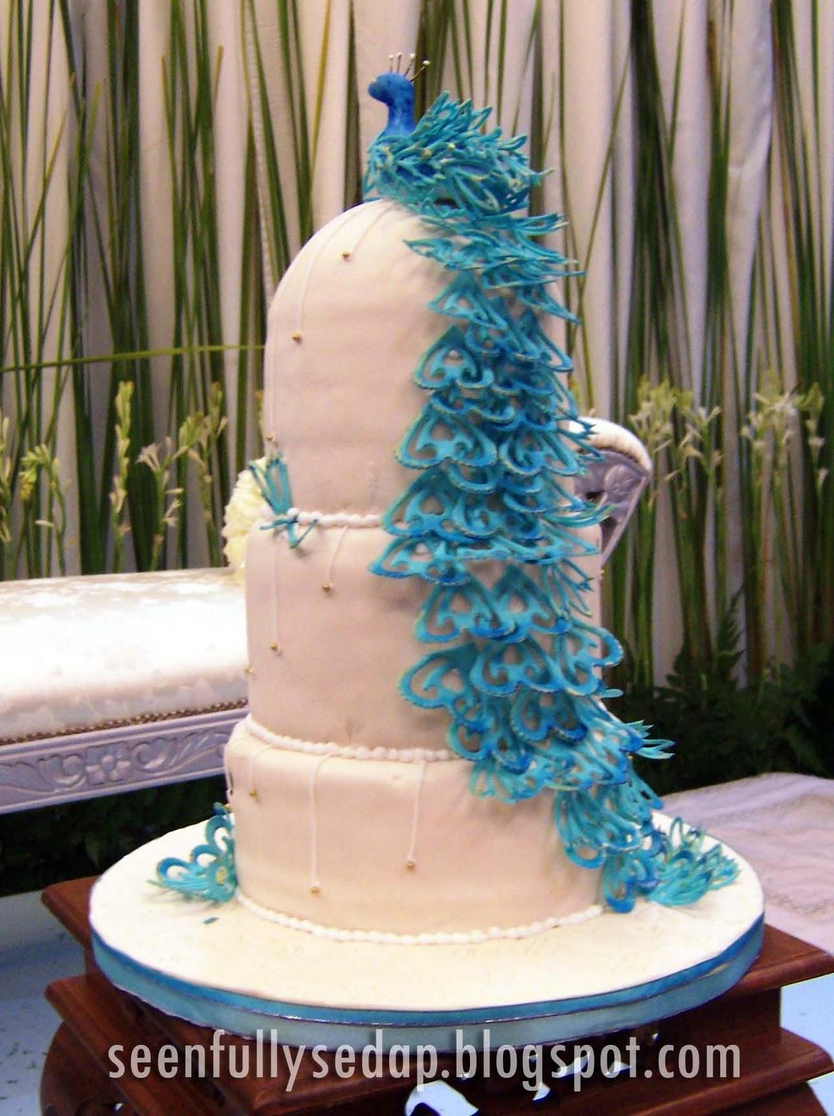 Seenfully Sedap Wedding Cake The Peacock Ezani s Wedding