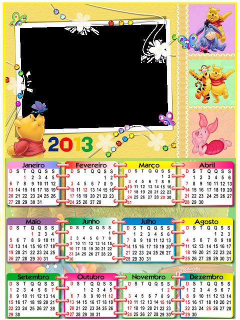 Coloridos Para 2013   Calend  Rios Em   2013   Modelos De