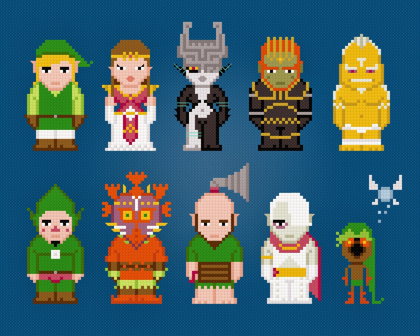 Zelda - Cross Stitch PDF Pattern Download