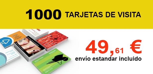 Oferta espacial kalcos.es 1000 Tarjetas de Visita 49,61 €