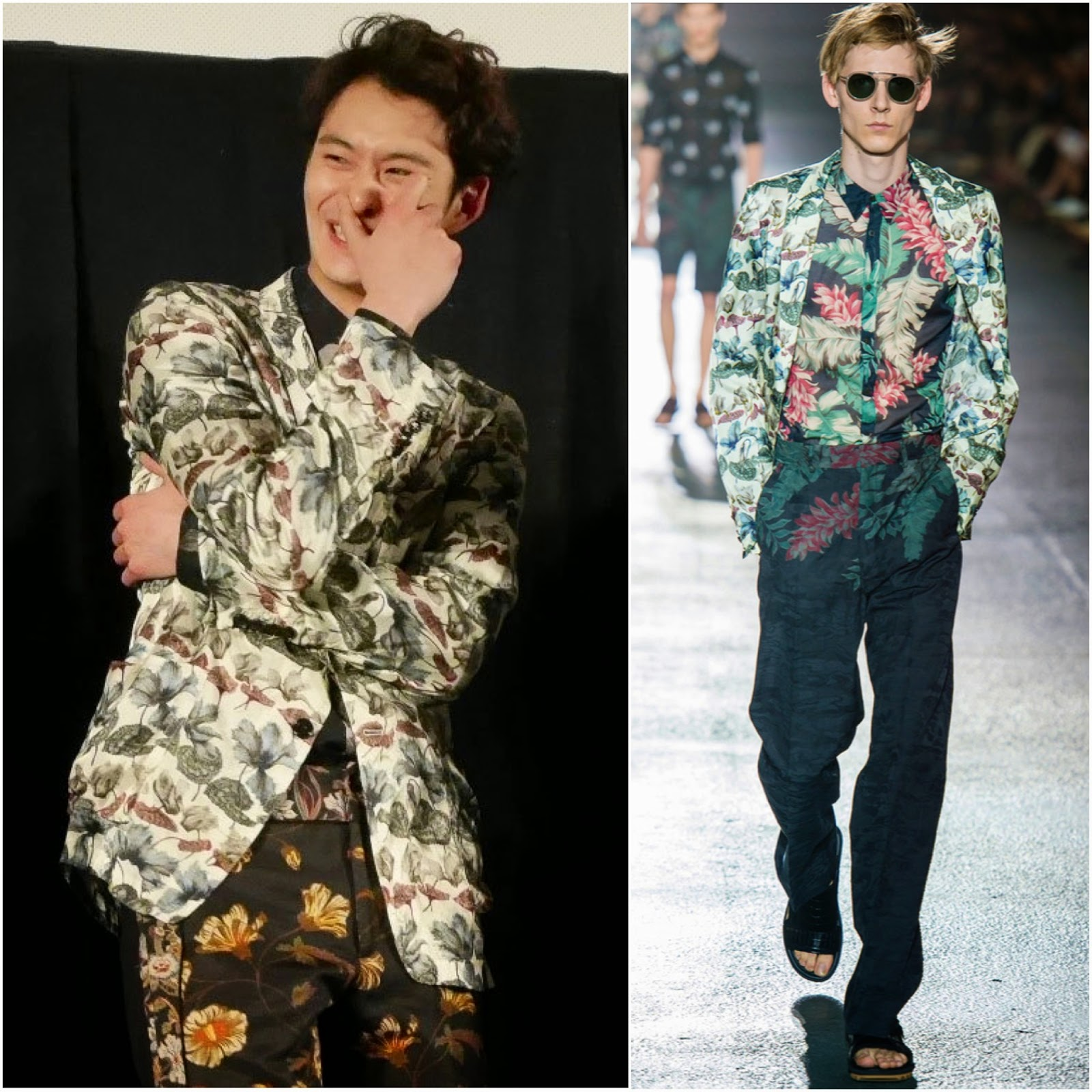 Masaki Okada [岡田将生] in Dries Van Noten - 2014 Okinawa International Movie Festival Oh! Father Press Conference