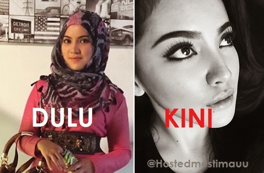 Nina Iskandar di kecam peminat gara gara buka tudung