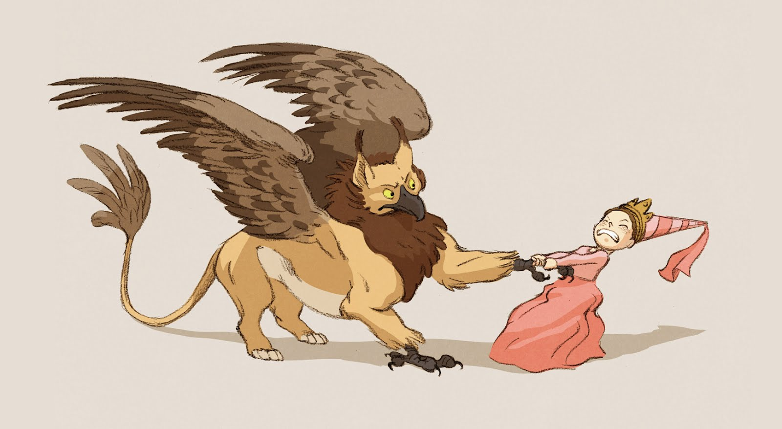 Princess vs griffin jed henry illustration for The griffin
