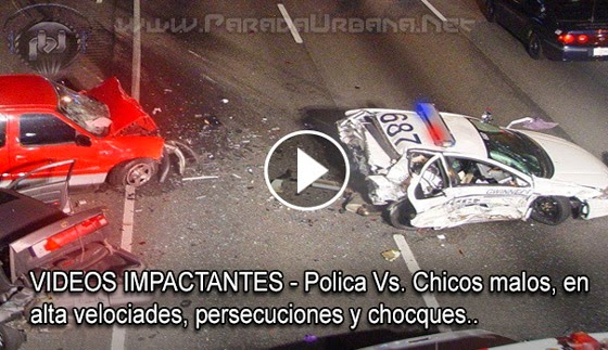 VIDEO IMPACTANTE: Alta velocidad, persecuciones y choques de policía, en este video compilación..