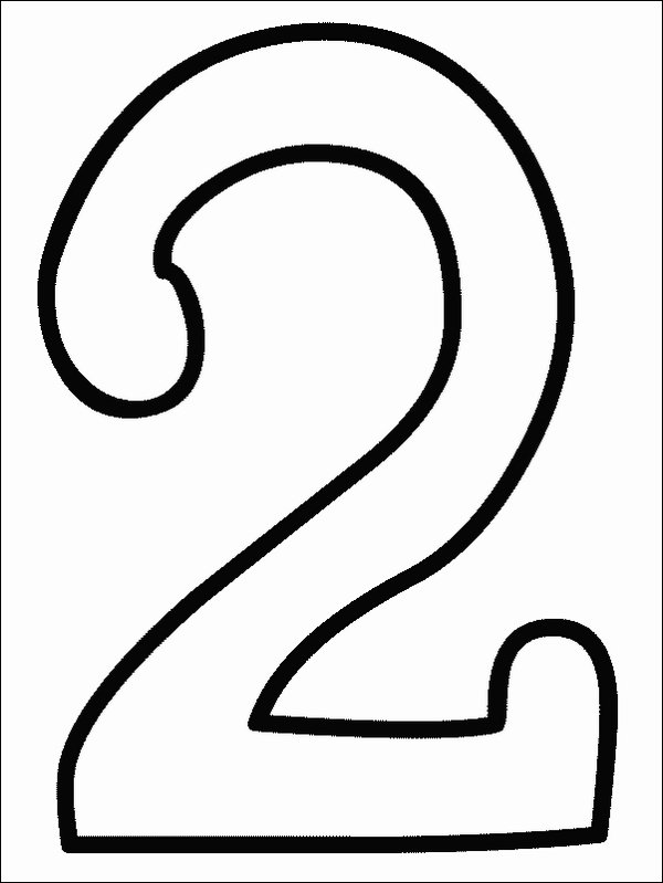 easy number coloring pages - photo#20