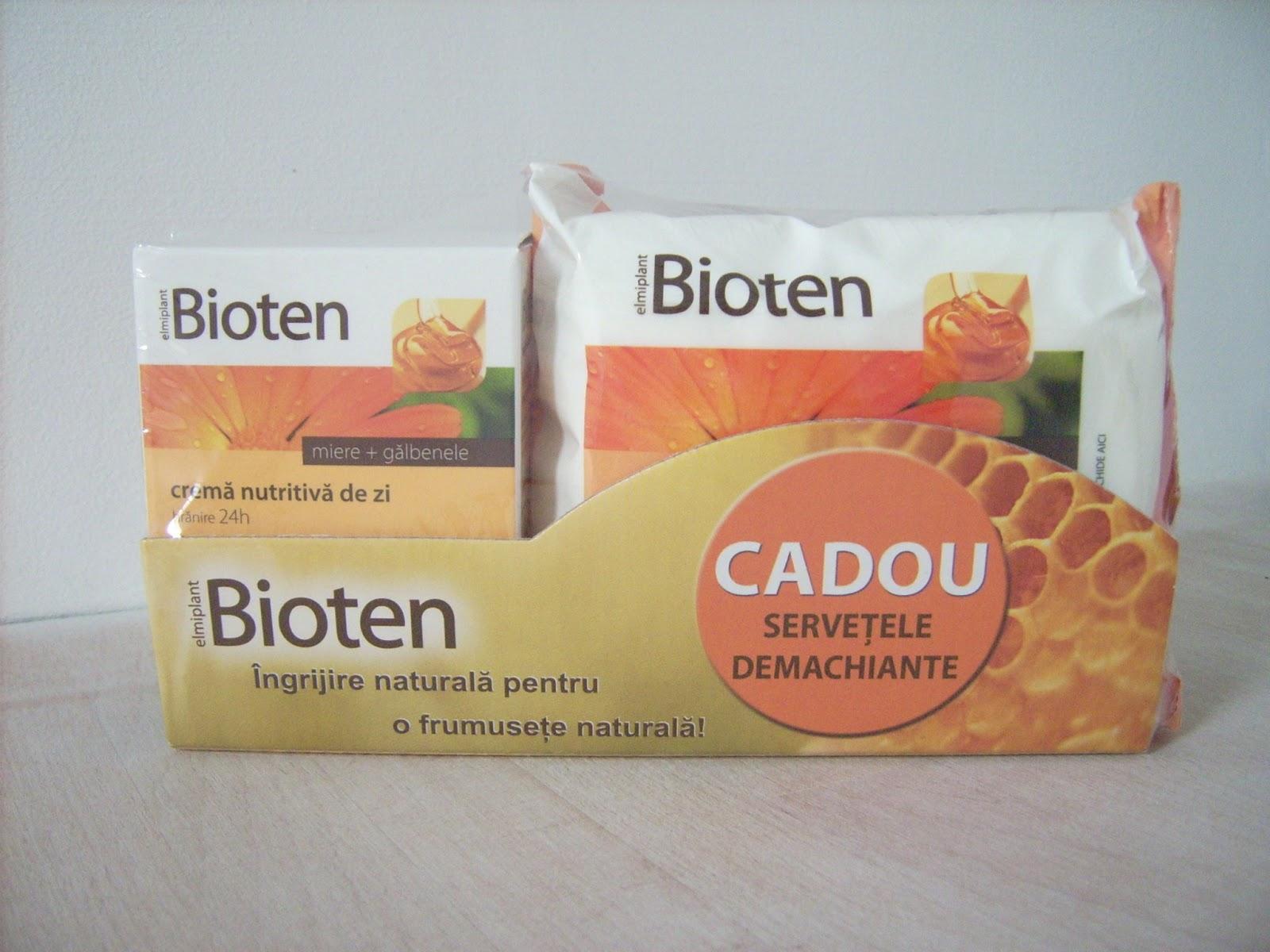 crema miere galbenele bioten, servetele demachiante bioten
