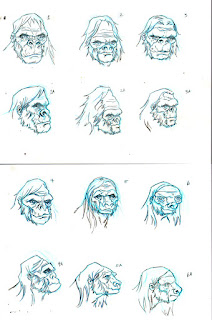 Bigfoot Sword Earthman barbarian comic book character head design