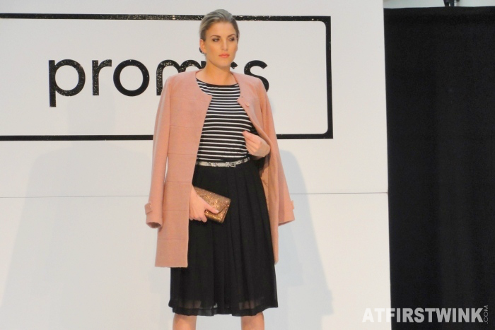Promiss Fall/Winter 2014 fashion show - pink coat