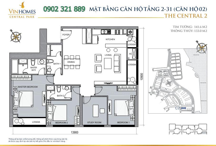 mat-bang-can-ho-thap-central2-tang-2-31-can-2
