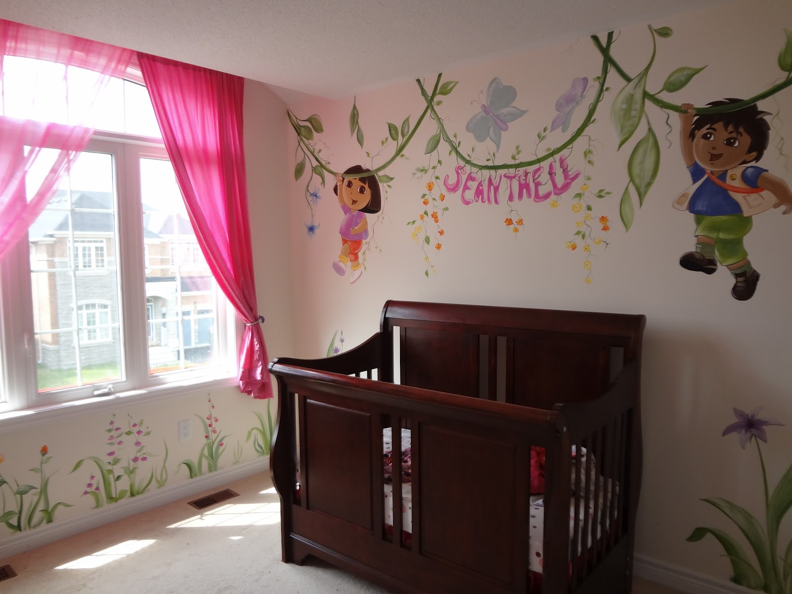 Magic on the wall murals for children dora and diego for Dora wall mural