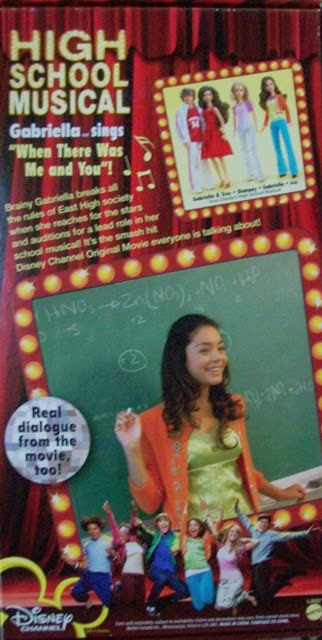 Mattel High School Musical Gabriella box showing actress Vanessa Hudgens