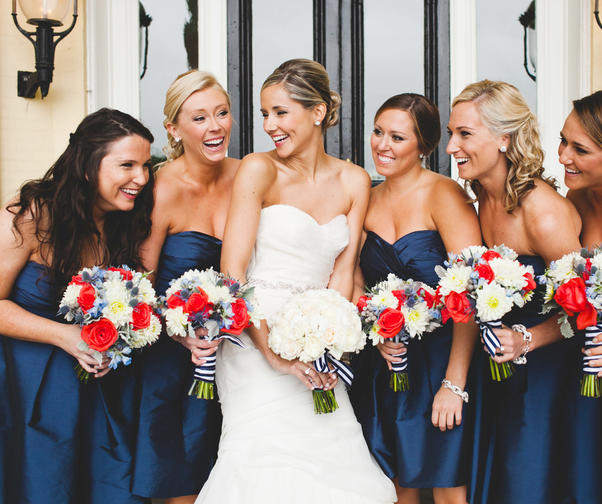 12 Festive Red, White and Blue Wedding Ideas