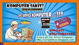 Service komputer dan laptop panggilan se bali