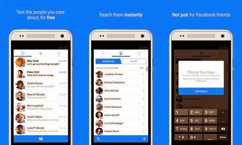 Aggiornata l'applicazione mobile di Facebook Messenger per Android e iOS
