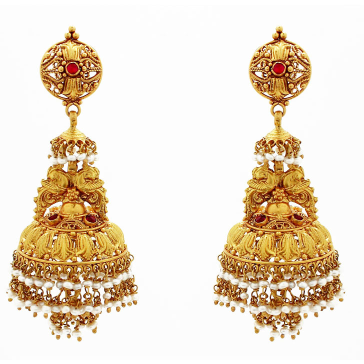 Image result for earrings gold for wedding