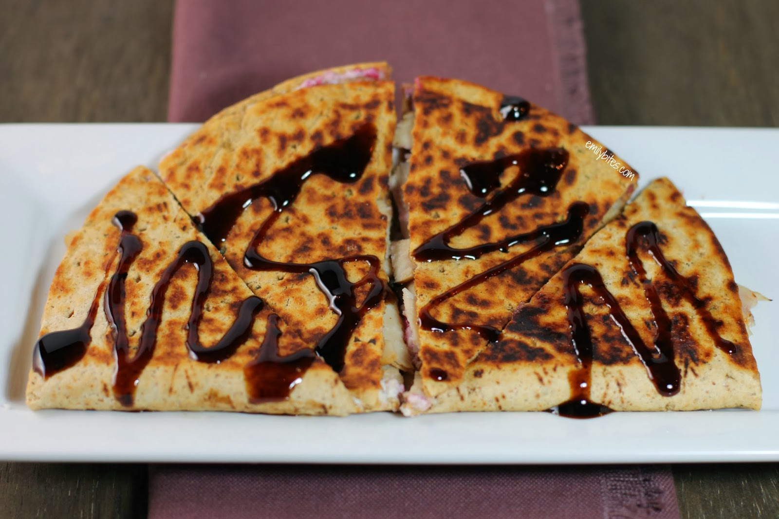 Turkey Cranberry Quesadilla - Emily Bites