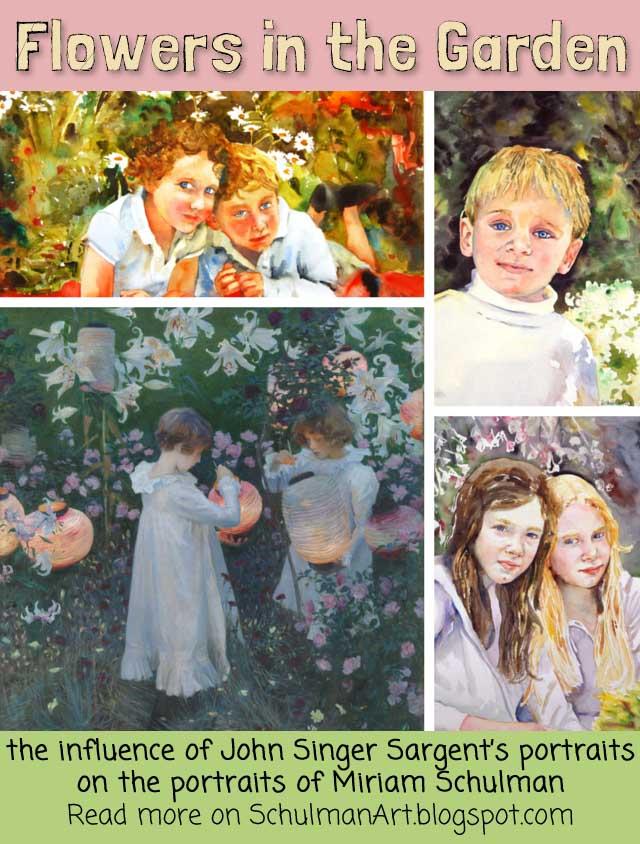 portrait paintings of John Singer Sargent and @schulmanart #MetSargent @metmusuem http://schulmanart.blogspot.com/2015/08/under-influence-john-singer-sargent.html