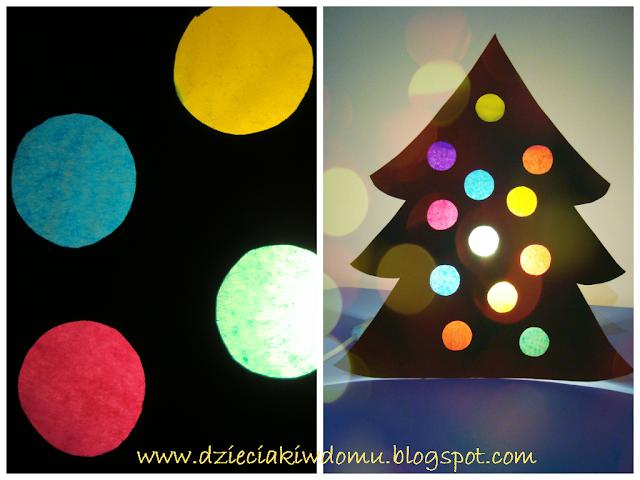 dekoracja na Boże narodzenie, lampka w kształcie choinki, witraż