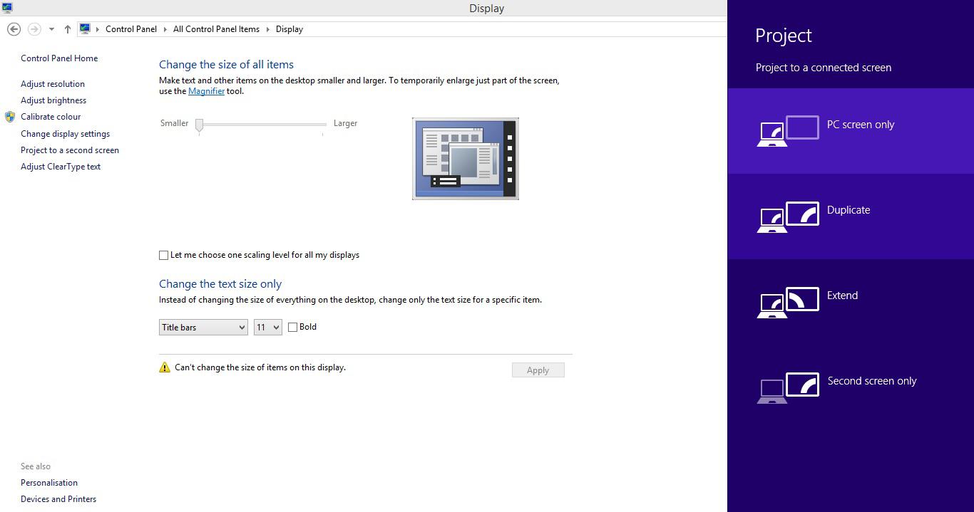 Kini Laptop Anda sudah terhubung dengan LCD dan siap digunakan ...