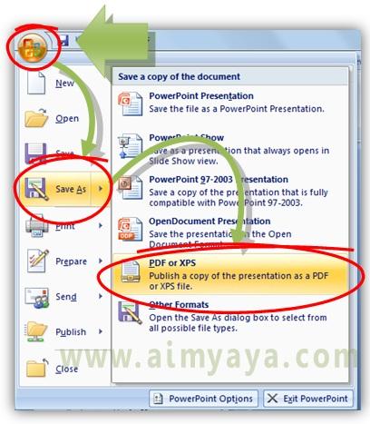 Gambar:  Cara konversi file powerpoint (ppt/pptx) menjadi pdf