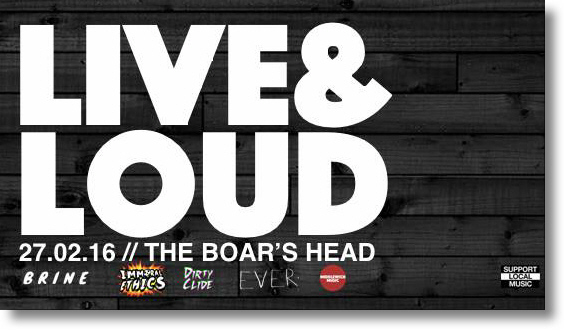 MUSIC IN MIDDLEWICH:LIVE AND LOUD AT THE BOAR'S HEAD