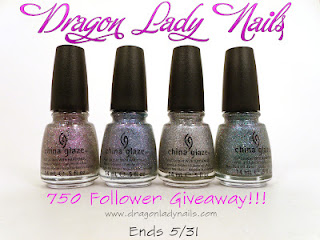 Dragon Lady Nails 750 Follower Appreciation Giveaway