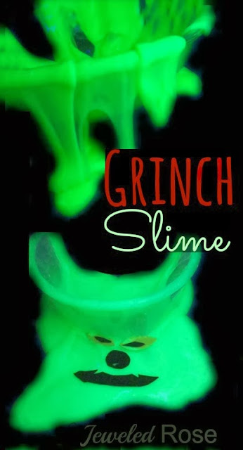 Grinch Slime - Dr Seuss activities for kids {Weekend Links} from HowToHomeschoolMyChild.com