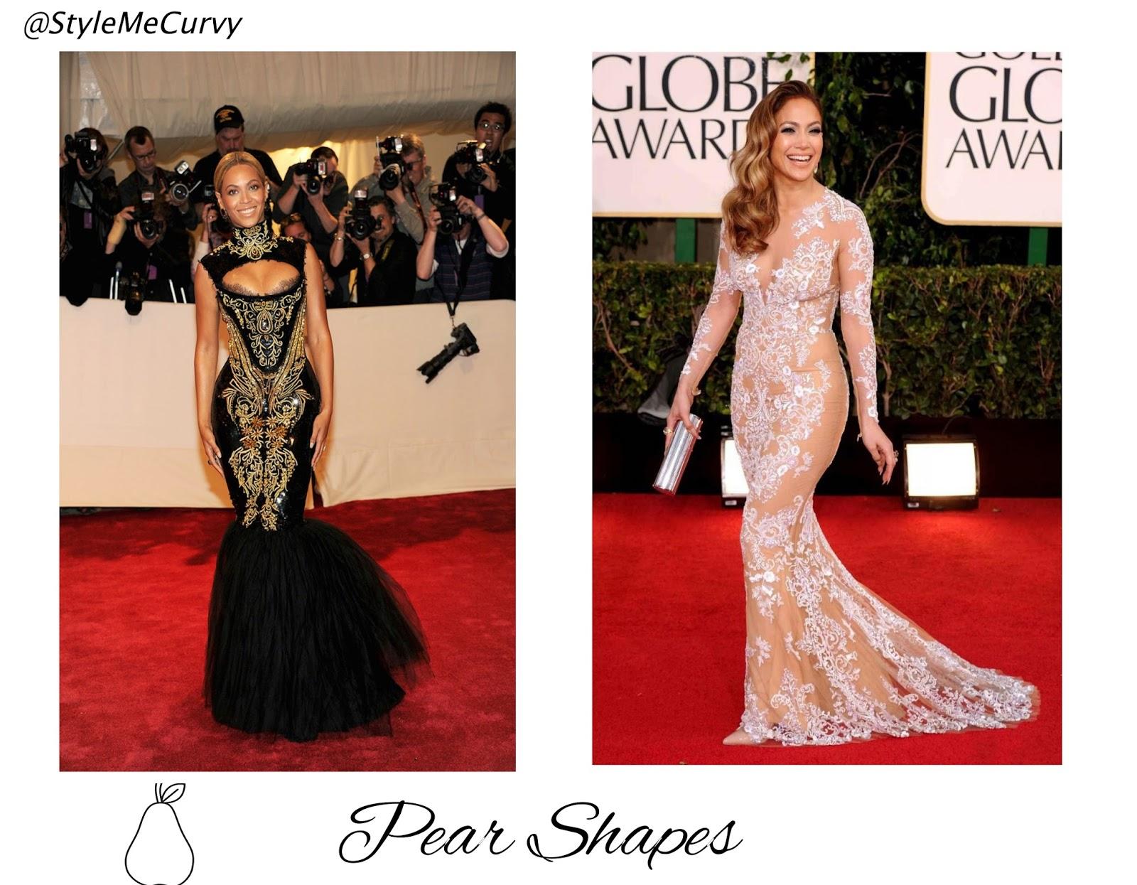 Pear Shapes Beyonce Jennifer Lopez