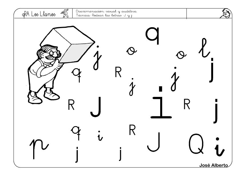 Hojas De Trabajo Con La Letra J