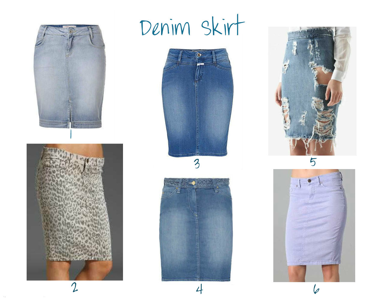 Fashion Caramel: The Pencil Denim Skirt