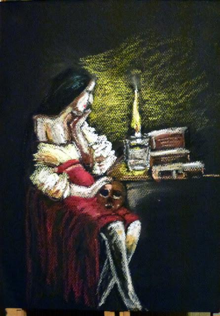 Art de vivre la peinture de peintrefiguratif portrait pastel gras reproduction d 39 un tableau de for Peinture pastel gras