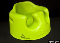 green Bumbo Baby Seat