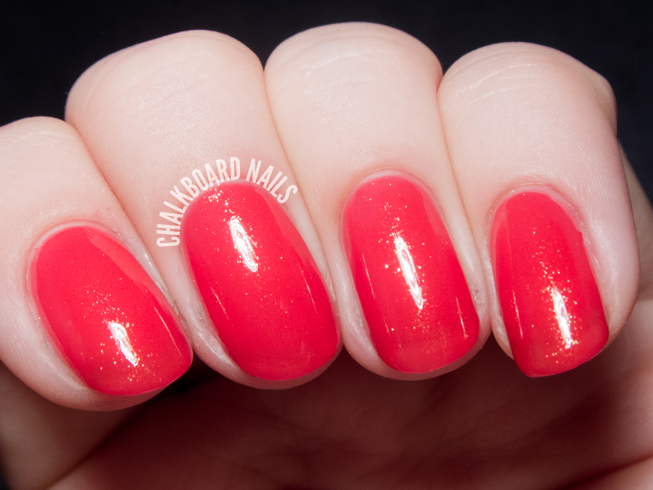 Contrary Polish Pink Grapefruit via @chalkboardnails