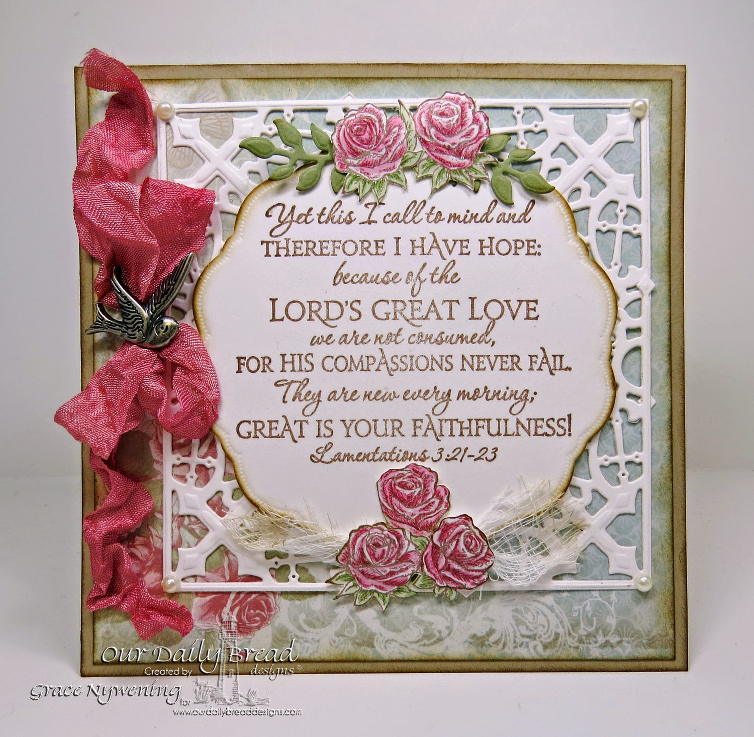 ODBD stamps- Scripture Collection 1, ODBD dies, designed by Grace Nywening