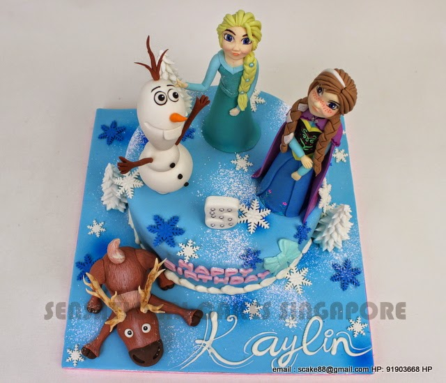 The Sensational Cakes FROZEN 3D SUGAR FIGURINE CAKE SINGAPORE
