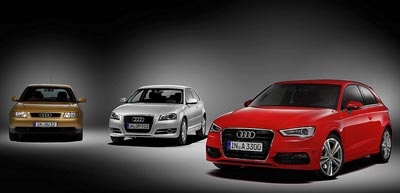 burlappcar 3 generations of audi a3. Black Bedroom Furniture Sets. Home Design Ideas