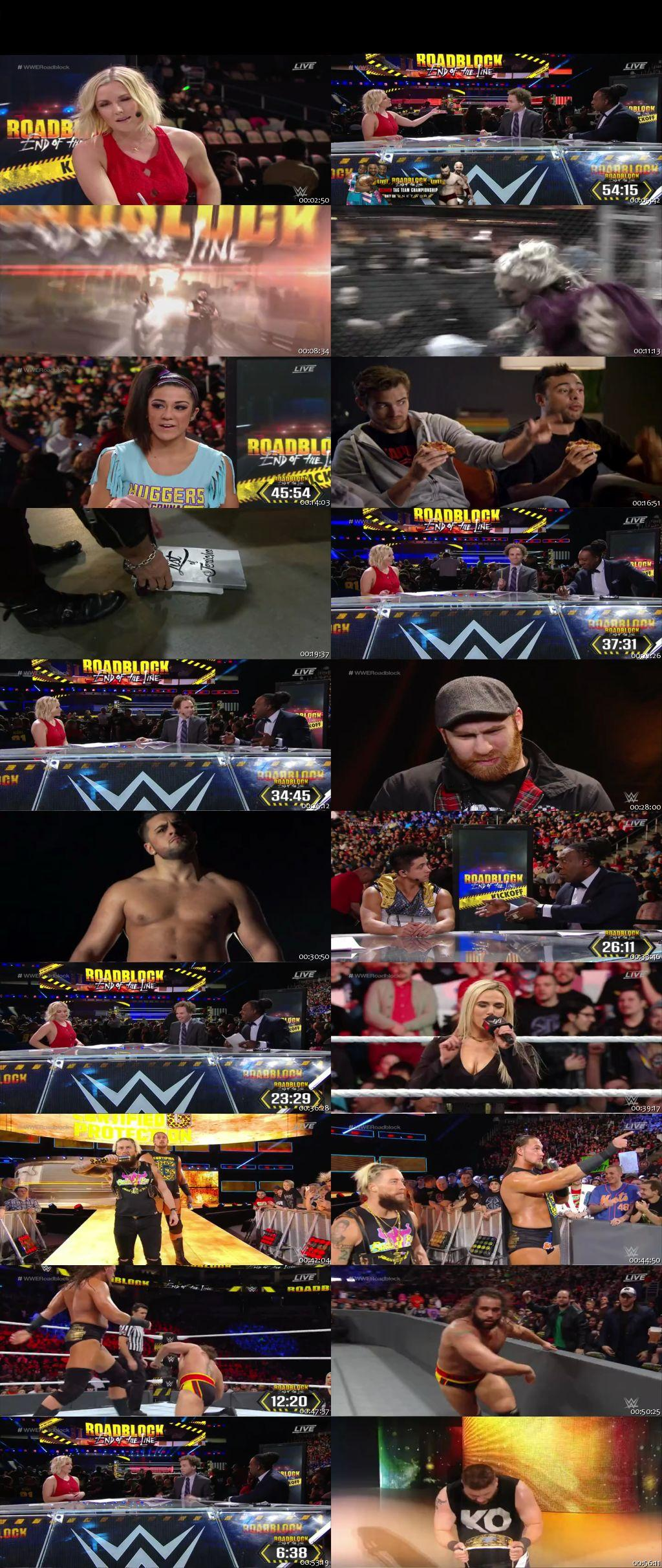 Screen Shot Of WWE Roadblock End Of The Line Kickoff 2016 PPV 480P 300MB