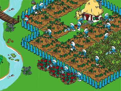 скриншот деревня смурфиков