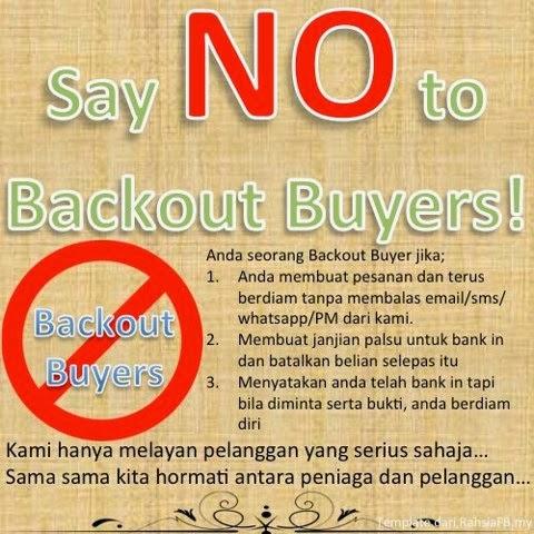 Adakah anda Backout Buyer?