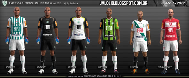 Kit do América Mineiro 2012/13, Kitset do América Mineiro 2012/13 para PES 2012 Download, Baixar Uniforme do América Mineiro 2012/13 para PES 2012