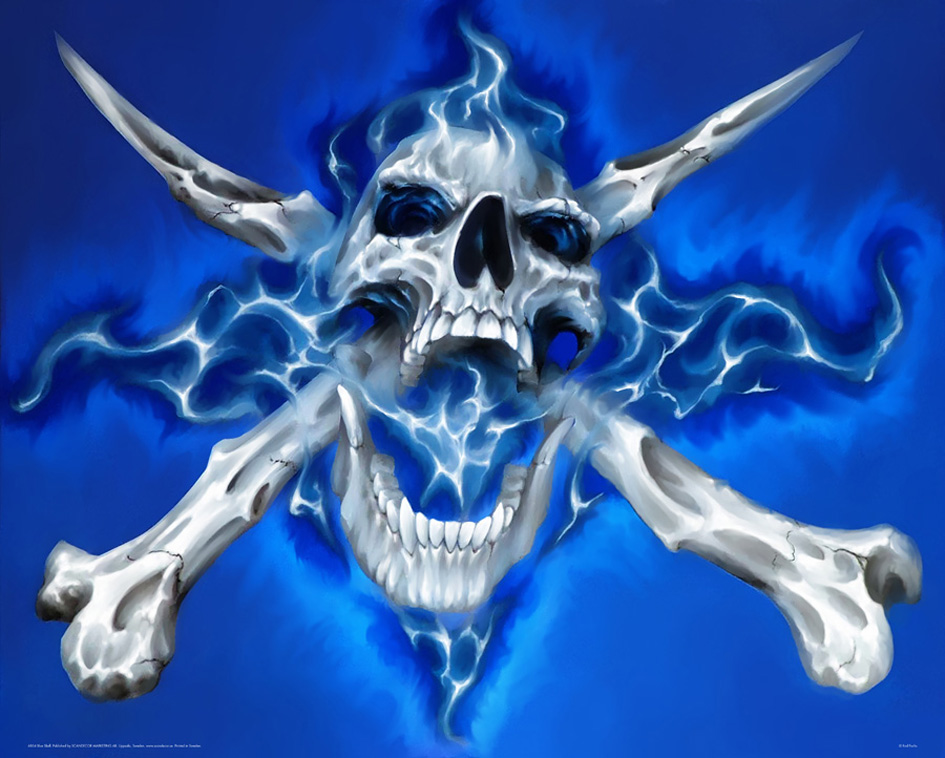 blue wallpaper skull -#main