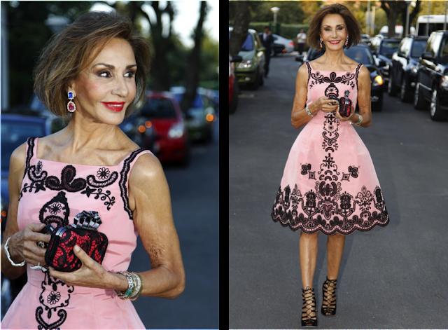 Naty Abascal vestida de Óscar de la Renta en la boda de Leticia Calderón